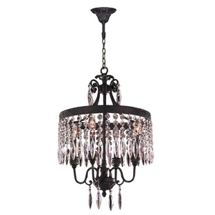 Astoria Grand Arreola 4-Light Crystal Chandelier