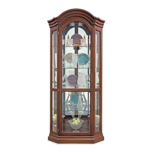 Philip Reinisch Co. Lighthouse Serpentine Lighted Corner Curio Cabinet