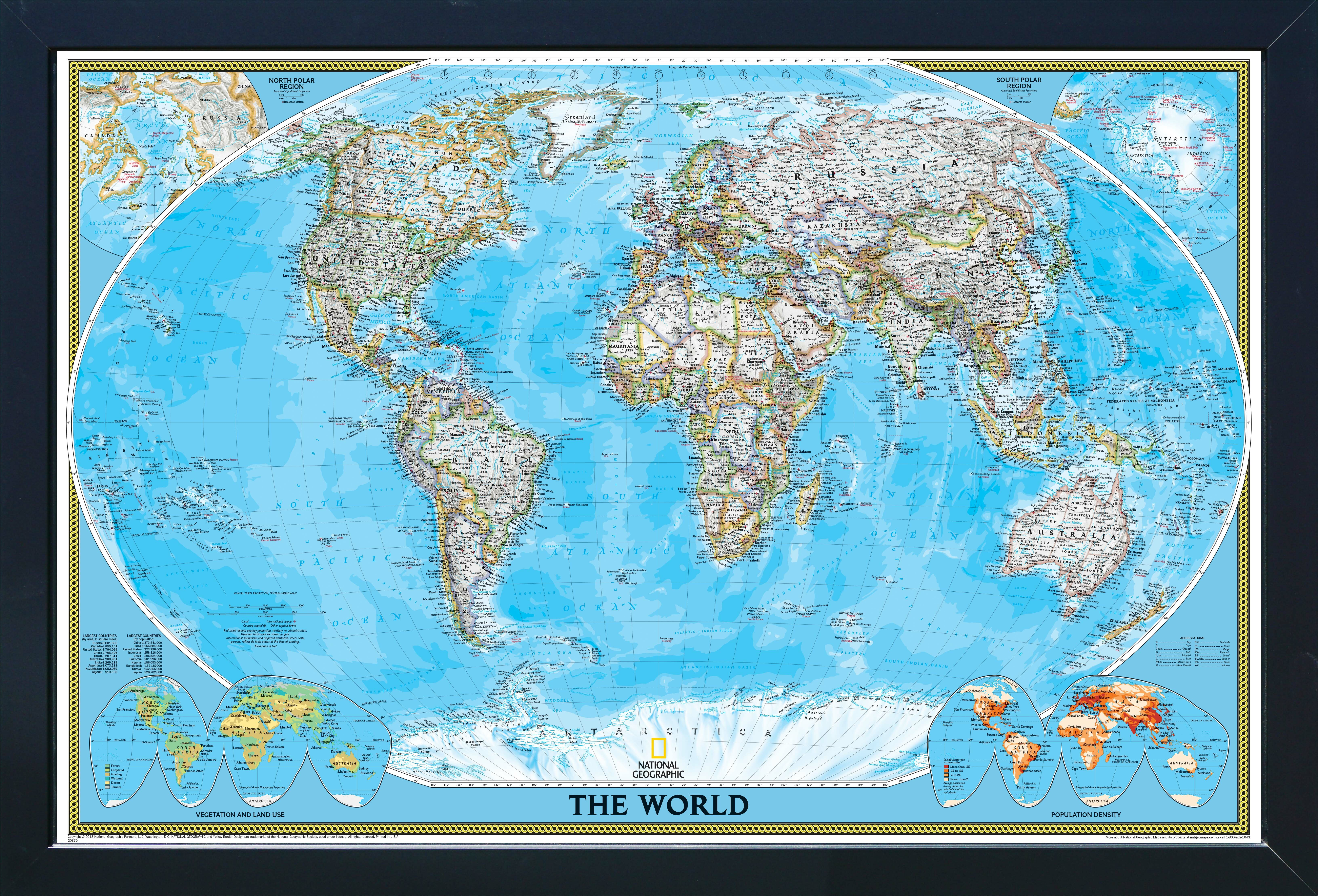 Home Magnetics Magnetic Travel Map National Geographic World Classic Wayfair