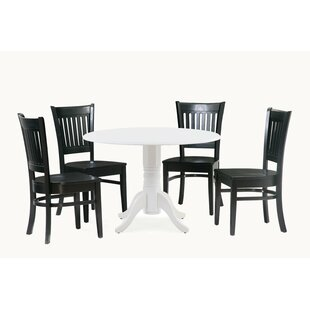 Reider 5 Piece Drop Leaf Solid Wood Dining Set by Charlton Home Reviews
