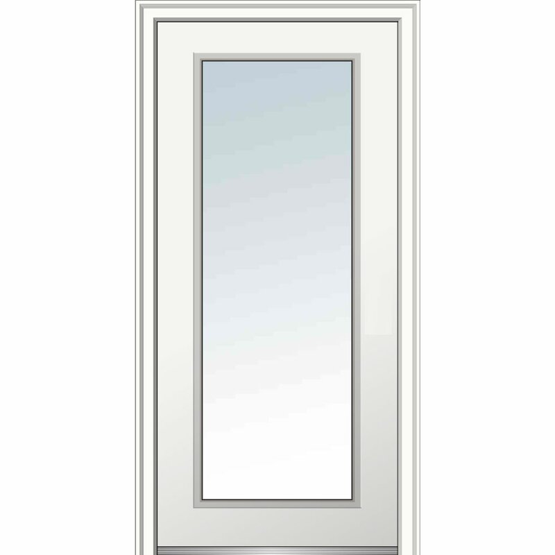 Clear Gl Primed Steel Prehung Front Entry Door