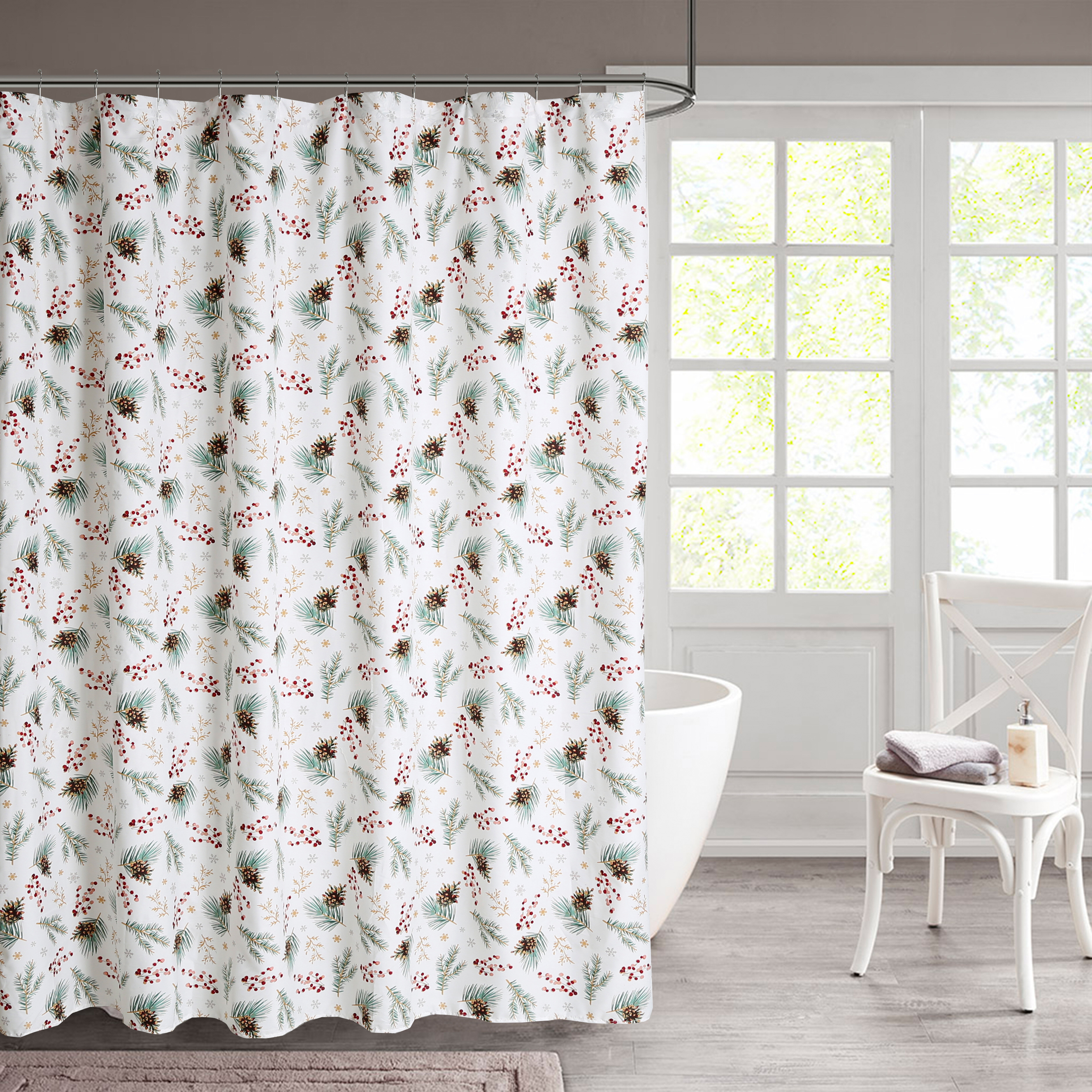 Christmas Nature Floral Shower Curtains Shower Liners You Ll Love In 2021 Wayfair