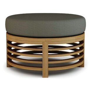 Seasonal Living Outdoor Teak Ottoman with..