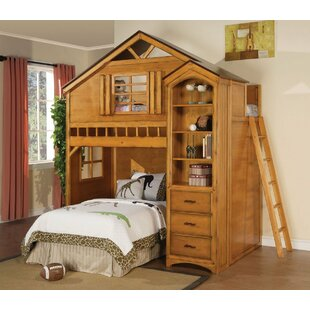 Mila Twin Loft Bed with Drawers by Zoomie Kids
