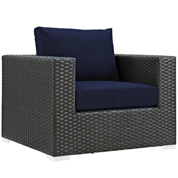 Tripp Outdoor Patio Chair With Sunbrella Cushions