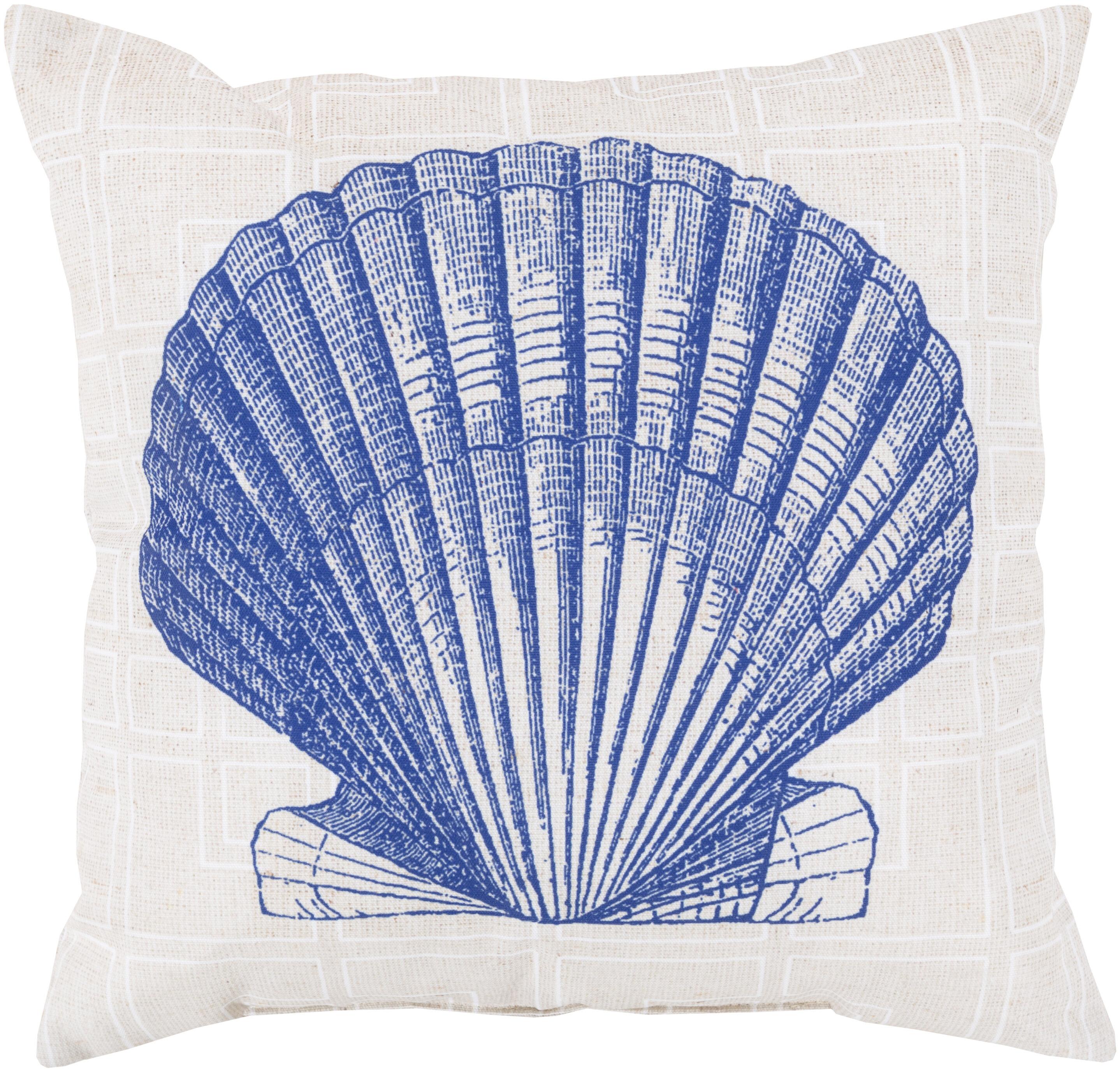 Highland Dunes Chaucer Shell Of The Sea Indoor Outdoor Throw Pillow Reviews Wayfair