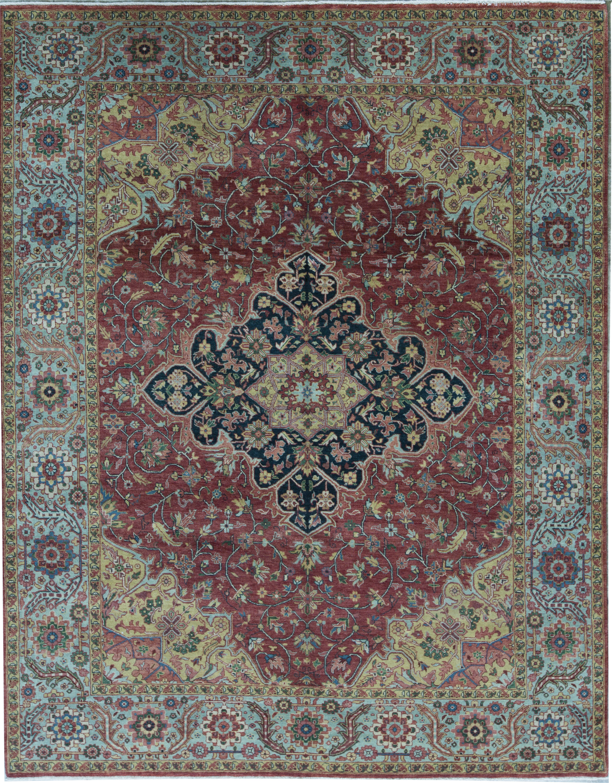 Bokara Rug Co Inc Bakshahesh Oriental Hand Knotted Wool Red Light Green Area Rug Wayfair