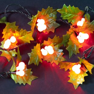 50 Red LED Berry And Holly String Lights By The Seasonal Aisle