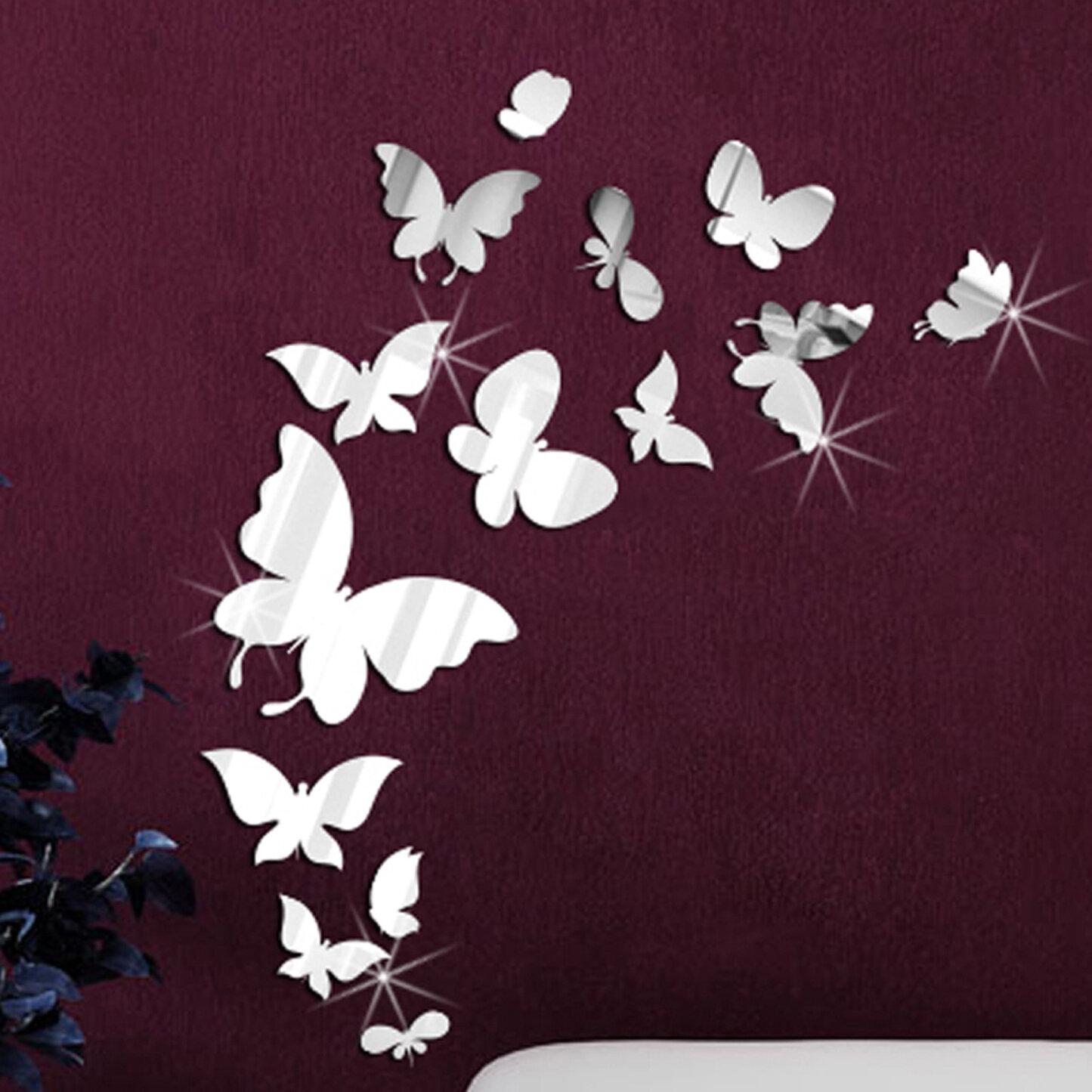 Walplus 14 Mirror Butterflies Wall Art Decal Reviews