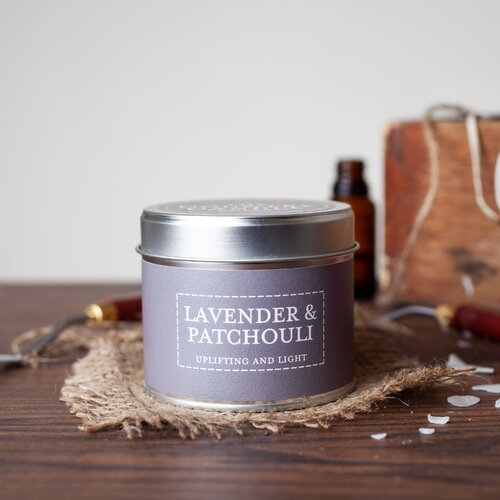 Lavender and Patchouli Scented Jar Candle The Country Candle Company