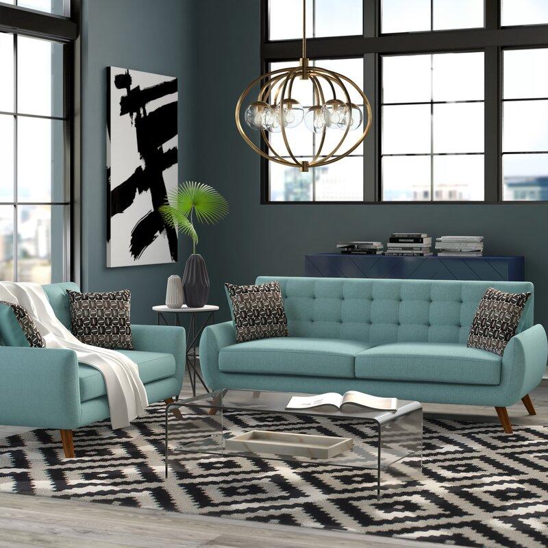 Mercury Row Bice 2 Piece Standard Living Room Set Reviews Wayfair Ca