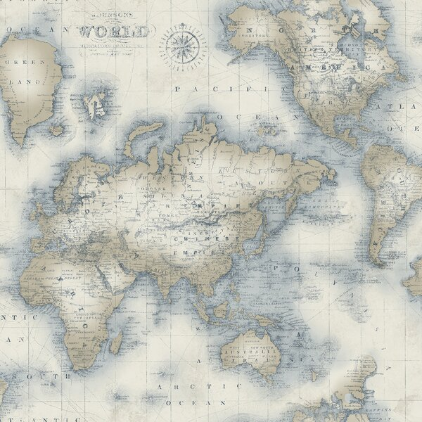 Old World Map Wallpaper Wayfair