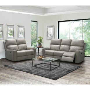Adeliene 2 Piece Leather Reclining Living Room Set