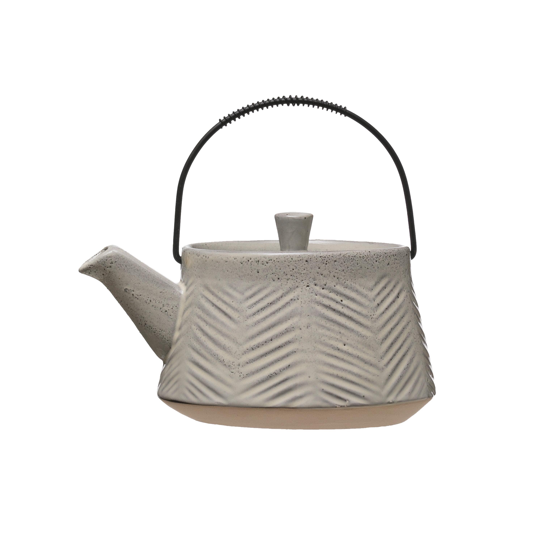 Gracie Oaks Izanami Debossed 24 Oz Stovetop Safe Teapot Reviews Wayfair