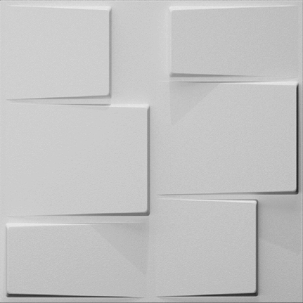 E Joy 19 7 X 19 7 Bamboo Wall Paneling In White Wayfair