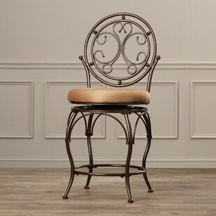 Darlington Traditional 24 Swivel Bar Stool by Fleur De Lis Living Fresh