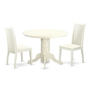 Sherlock 3 Piece Breakfast Nook Solid Wood Dining Set August Grove
