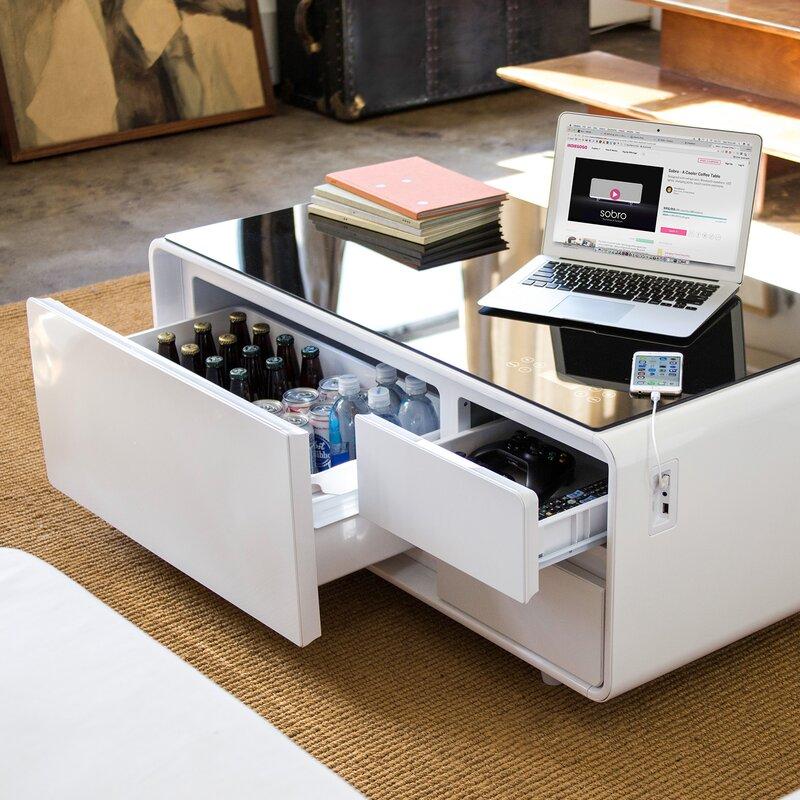 Refrigerator Coffee Table.Smart Coffee Table