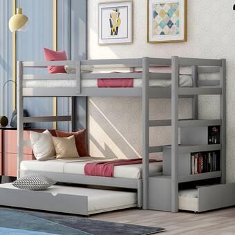 Mistana Baby Kids Finkle Twin Over Twin Bunk Bed Wayfair