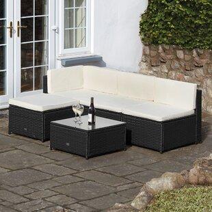 Dreanda 4 Seater Rattan Effect Sofa Set Image