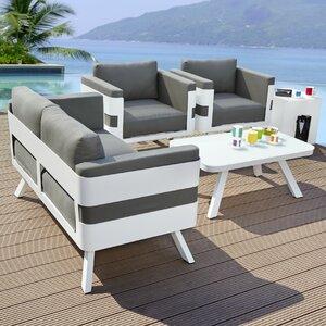4-tlg. Lounge-Set St. Tropez mit Kissen von Gree..