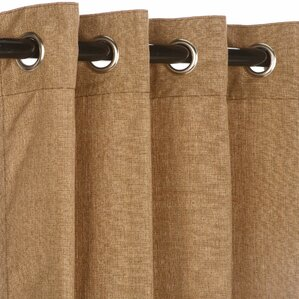 sunbrella outdoor single curtain panel