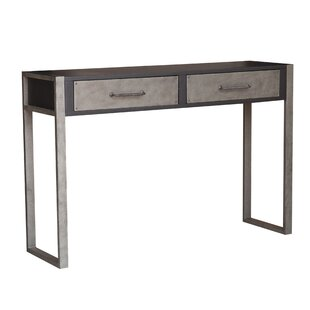 Bledsoe Industrial Distressed 2 Drawers Storage Console Table