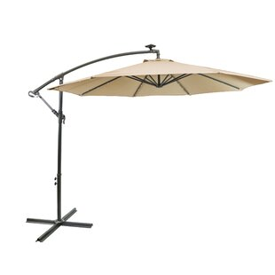 Hilma Solar 10' Cantilever Umbrella by Freeport Park Find