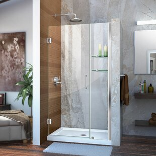 Unidoor 40 x 72 Hinged Frameless Shower Door with ClearMax? Technology by DreamLine