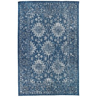 Arverne Floral Navy Indoor/Outdoor Area Rug