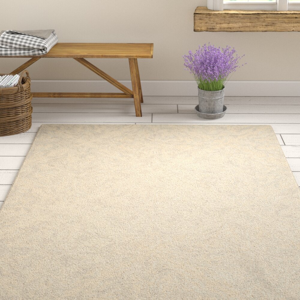 House Of Hampton Meacham Hand Tufted Wool Ivory Area Rug Reviews Wayfair