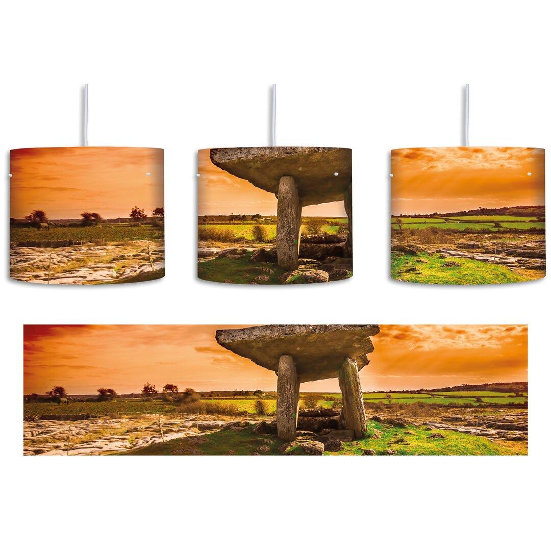 The Burren at Sunset 1-Light Drum Pendant