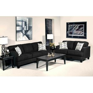 Soprano 2 Piece Living Room Set by Roundhill..