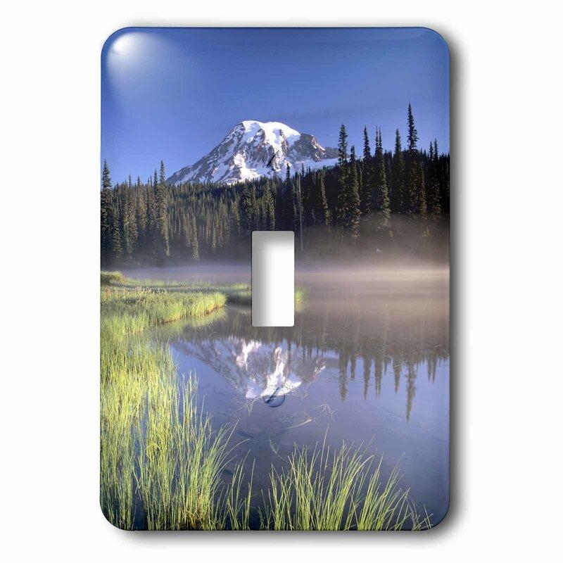 3drose Sunrise Reflection Lake Mt Rainier Np Wa 1 Gang Toggle Light Switch Wall Plate Wayfair