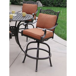 Fairmont Patio Swivel Bar Stool with Cushion (Set of 6) (Set of 6)