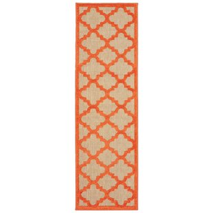 Claudia Sand/Red Indoor/Outdoor Area Rug