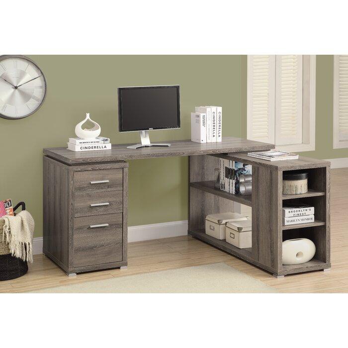 Drewes 3 Drawer L Shaped Desk