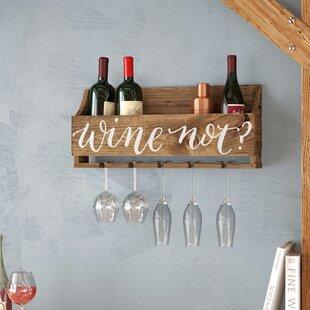Joetta Wine Not 6 Bottle Wall Mounted Wine Rack
