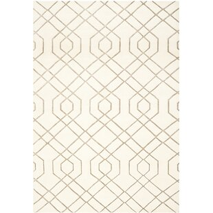 Paramkusham Tibetan Hand Knotted Wool White Area Rug By Orren Ellis
