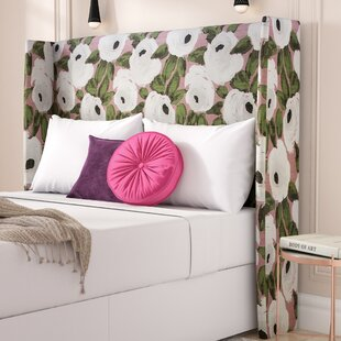 Adalia Bloomsbury Rose Upholstered Wingback Headboard