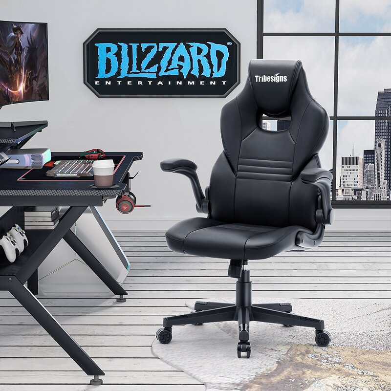 Leicha High Back Gaming Chair Racing Office Computer Ergonomic Video Game Chair High Back Adjustable Swivel Task Chair With 2d Armrest Headrest And Lumbar Support E Sports Massage Chair Wayfair