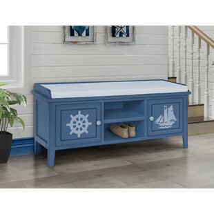 Perez Wood Storage Bench by Breakwater Bay