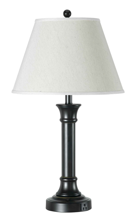 Latitude Run Wellesley 28 25 Black Table Lamp Reviews Wayfair