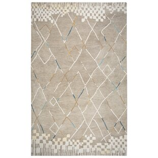 Hargis Hand-Tufted Wool Natural Area Rug by Ivy Bronx