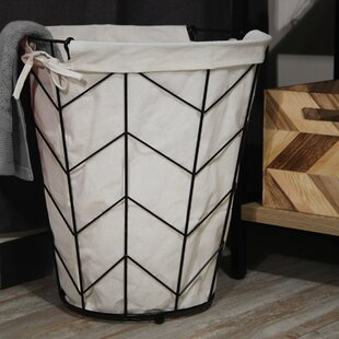 Laurel Foundry Modern Farmhouse Tapered Round Laundry Hamper