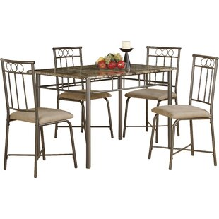 5 Piece Dining Set by Monarch Specialties Inc. Discount