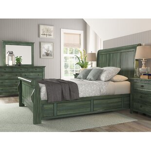 Sefton Sleigh Bed by Three Posts