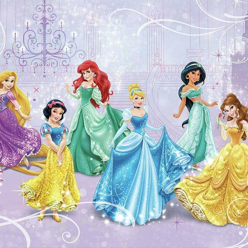 York Wallcoverings Walt Disney Kids Ii Disney Princesses Royal