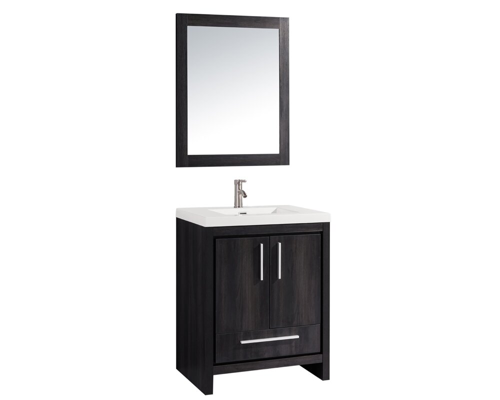 "Bathroom Cabinets Miami mtdvanities miami 24"" single sink modern bathroom vanity set with"