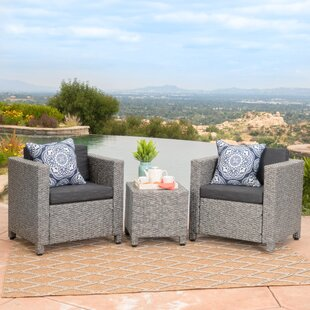 Calliope 3 Piece Conversation Set with Cushions